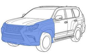 Моторный щит и передние арки  внедорожник - максимальный