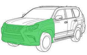 Моторный щит и передние арки  внедорожник - оптимальный
