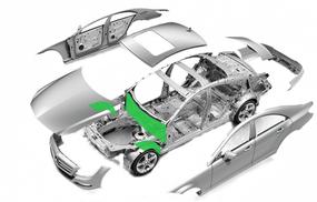 Моторный щит и передние арки  средний класс - оптимальный