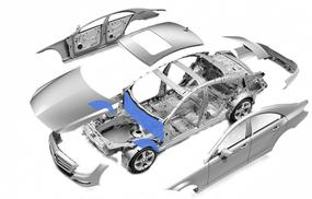 Моторный щит и передние арки  средний класс - максимальный